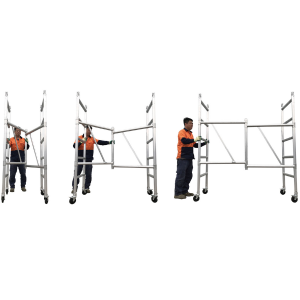 Aluminium Mobile Foldable Scaffold 4M – Single Width (F40)