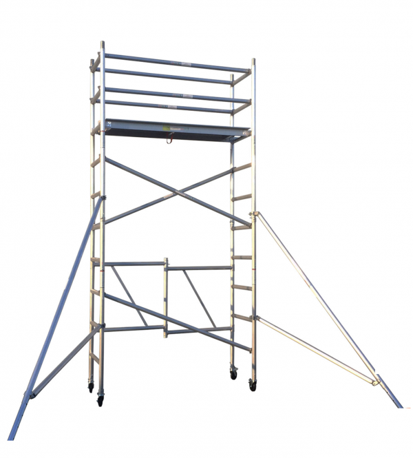 4M Aluminium Foldable Scaffold Mobile Tower – Single Width