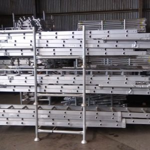 Aluminium Mobile Scaffold Extension Ladder with Support 4.8m