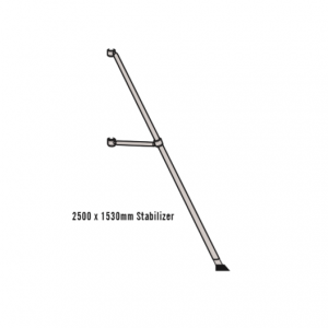 Stabilizers / Outriggers 2500mm (adjustable) for Mobile Scaffold Towers