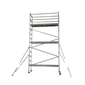 Aluminium Mobile Scaffold 5M – Long Single Width (N50)