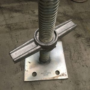 Adjustable Solid Base Jack – Electro Galvanised