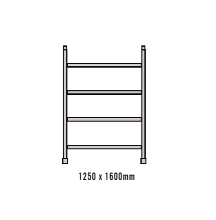 1.6M Four Rung Wide Frame for Double Width Mobile Scaffold