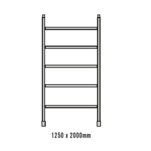 2.0M Five Rung Wide Frame for Double Width Mobile Scaffold