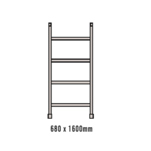 1.6M Four Rung Narrow Frame for Single Width Mobile Scaffold